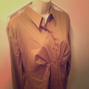New York & Co. button up long sleeve blouse